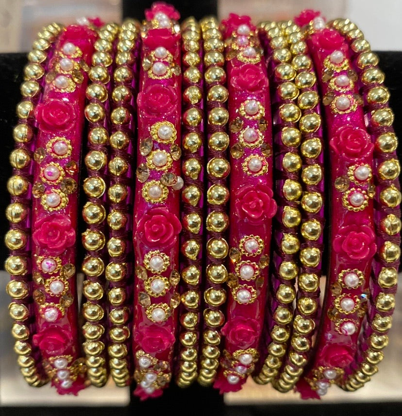 Rose Bangles (Purple/Magenta)