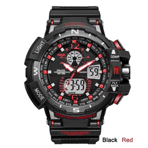 SMAEL Men's Sport Watch Men's Wrist Watch LEVED Digital Quartz Wrist Watches Top Brand Luxury Digital Men's Watch