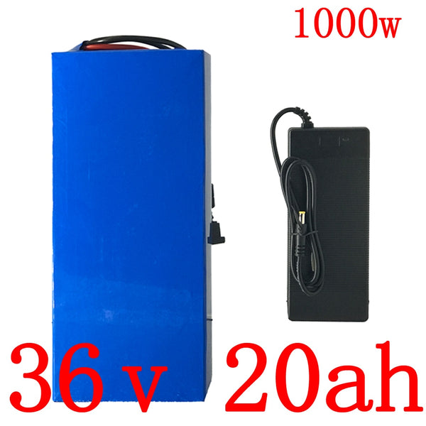 36V lithium battery 36V 500W 1000W electric scooter battery pack 36v 10ah 13ah 15ah 18ah 20ah electric bike battery with charger