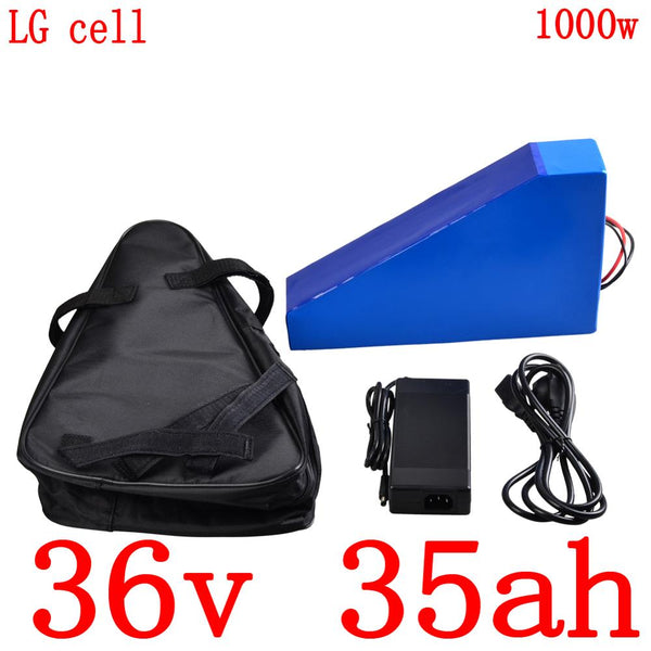 36V electric bike battery 36V 35AH Lithium battery use LG cell 36V 500W 1000W ebike battery with 30A BMS+5A charger free duty