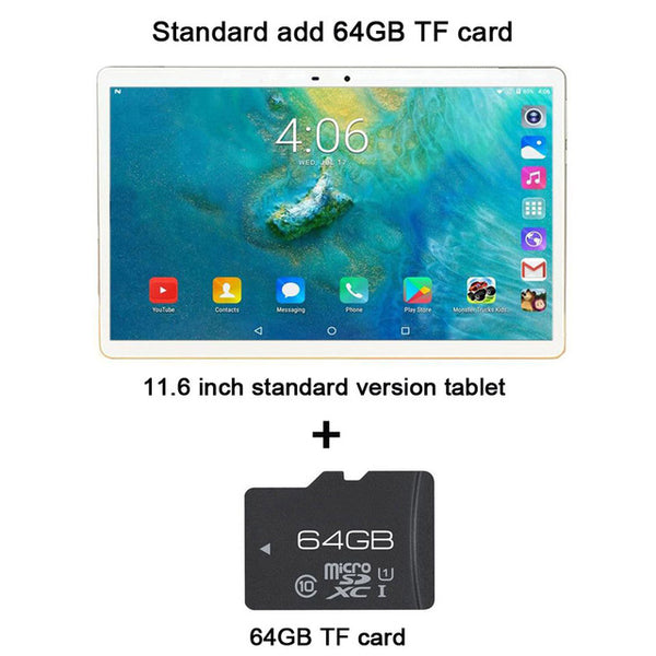 "Tablet Laptop 11.6 "" Inch android tablet 2 In 1 10 cores gaming Film Music Tablets gps wifi 4G sim card call phone With Keyboard"