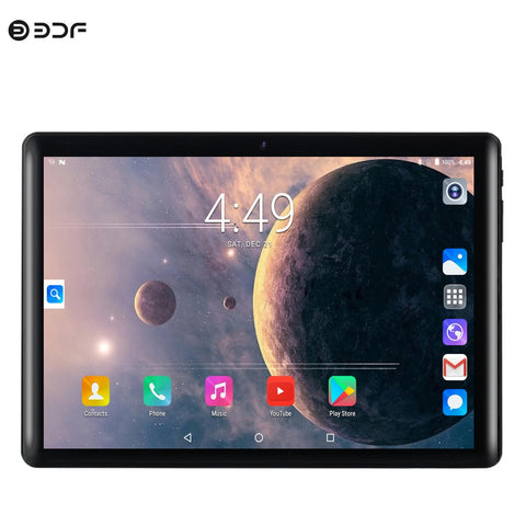 New Original 10 Inch 6582 Quad Core Tablet Pc Google Play 3G Phone Call WiFi Tablets 2.5D Glass 1280x800 IPS Screen 1GB+16GB