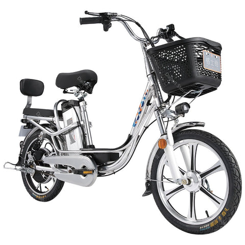 Adult Electric Bicycles Two Wheels Electric Bicycles 18 Inch 48V 350W Range 80KM Powerful Electric Bike Removable Battery