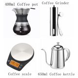 Coffee Drip Sets Ceramic/Glass Dripper Pitcher  Kettle V60 Glass Coffee Filter Reusable Coffee Filters