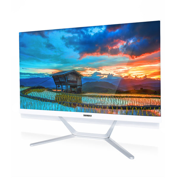 Cheap price intel Celeron white all in one computer 23.8' monitor dual core windows 10 desktop for office using