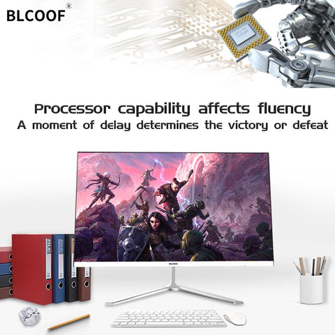 Ultra-thin all-in-one computer Core i5 Home Appliances 21.5 inch Inch Monitor desktop built in wifi Suitable for office  games