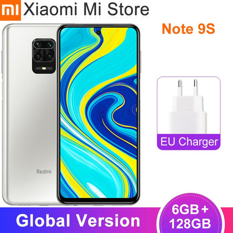 Global Version Xiaomi Redmi Note 9S 6GB ROM 128GB RAM Smartphone Snapdragon 720G Octa Core 48MP AI Quad Cameras 5020mAh Note 9 S