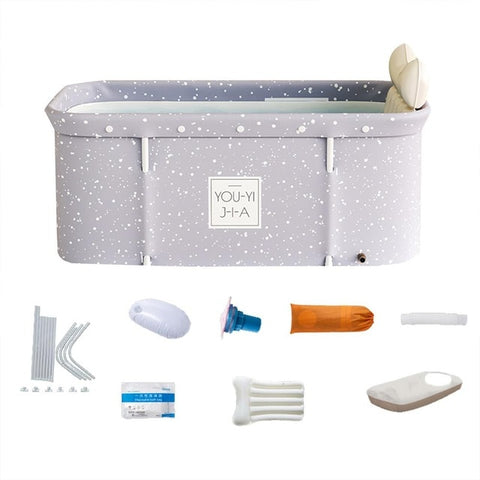 120 X 55 X 50 cm Bathtub Set Portable Folding Tub Bucket Kit For Adult Family PVC Beauty Spa Bathtub Baby Bath Tub Bath Bucket