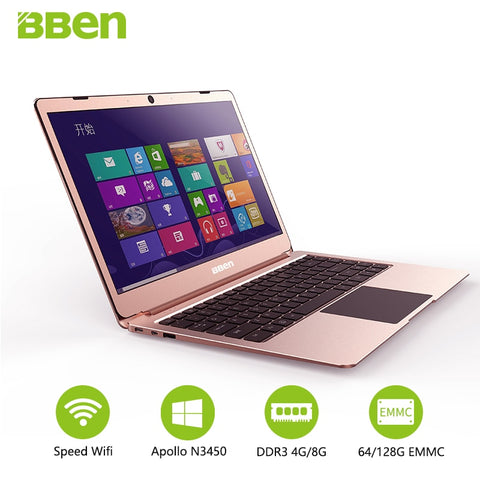 Bben LapBook 14.1 Inch Laptop Notebook PC Window 10 Intel Apollo Lake N3450 Quad Core 4GB RAM 64GB Matel Screen Laptops
