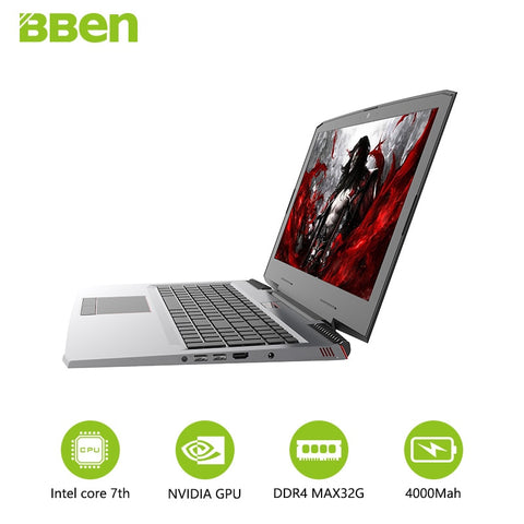 "Bben Gaming G16 Notebook 15.6""computer with intel i7-7700HQ quad core NVIDIA GeForce GTX1060 16GB DDR4,M.2 256GB SSD,2TB HDD"