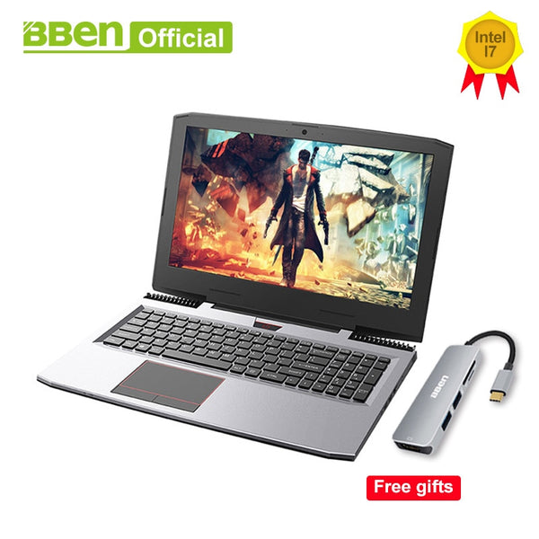 "BBEN G16 Gaming Laptops Pro Windows10 computers 15.6"" GTX1060 Intel Core i7 7700HQ DDR4 8G/16G/32G RAM 256G/512G SSD,1TB/2TB HDD"