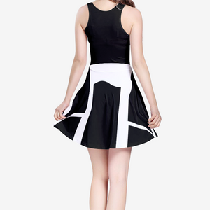 Women's Sleeveless Midi Casual Flared Skater Dress