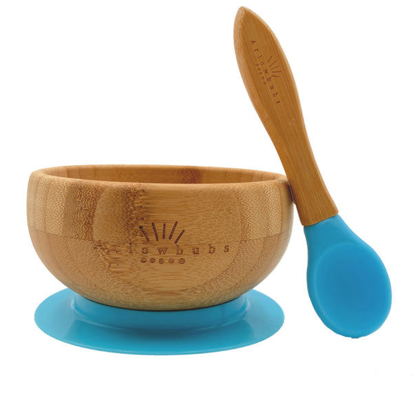 Organic  Baby Bamboo Bowl + Spoon Set (3 Colours)
