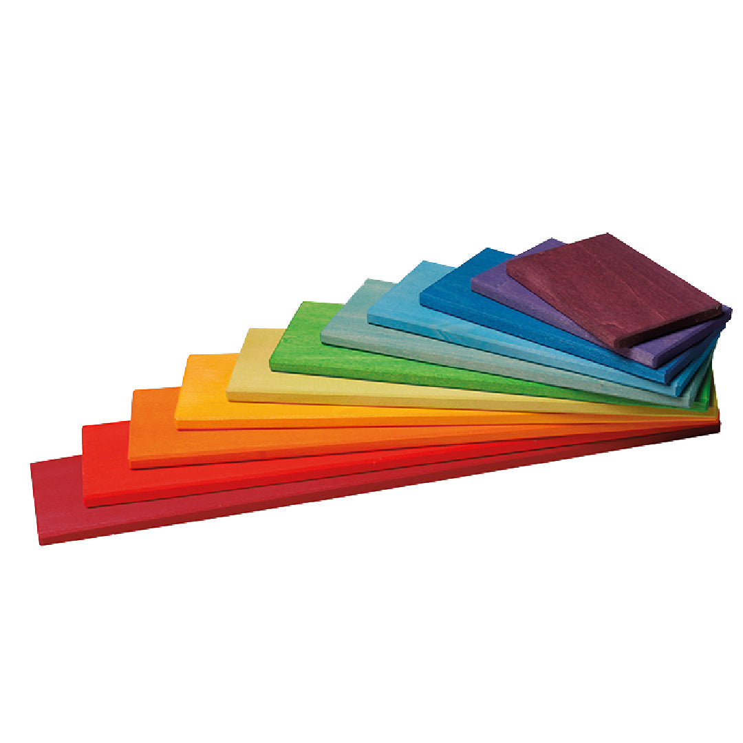 Montessori Wooden Rainbow Building Blocks