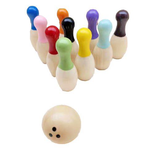 Mini Wood Kids Bowling Game with Pins
