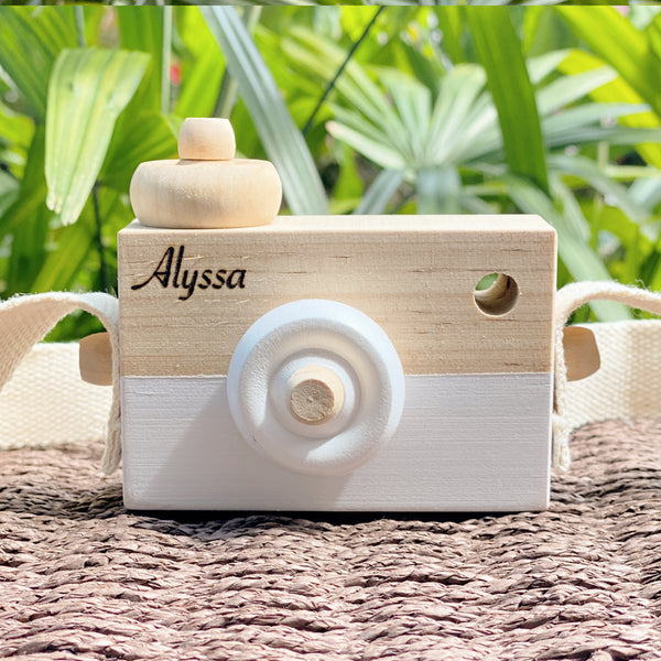 Personalised Wooden Toy Camera