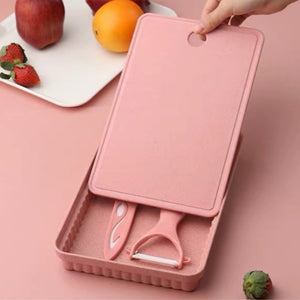 Blush Baby Natural Cutting Board Set