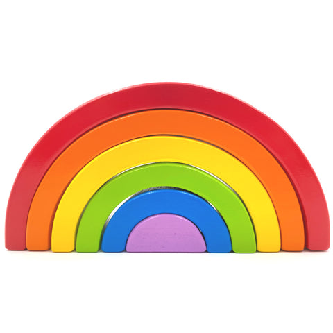 Wooden Classic Rainbow Stacker
