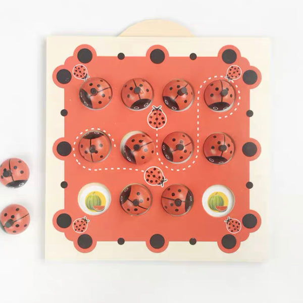 Montessori Wooden Ladybird Memory Game