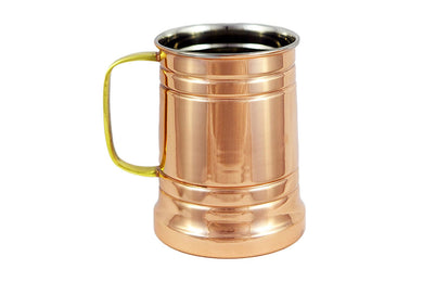 German Style Hammered Copper Beer Stein - 100% Pure Heavy Gauge Copper Beer Mug - 20 oz