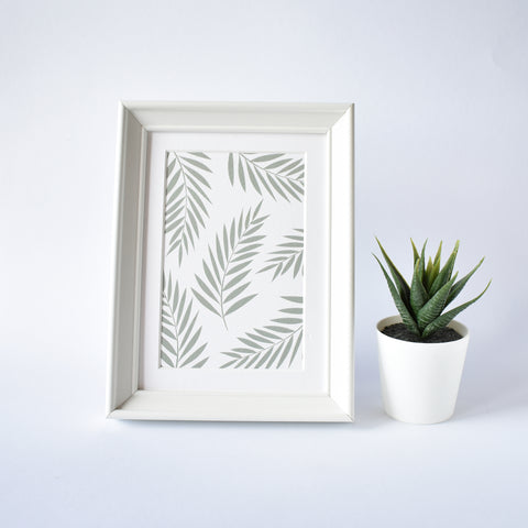 palm leaves botanical greeting card home decor elemente design