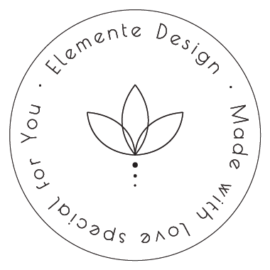 elemente design stamp made with love special for you