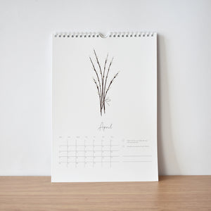 April Kindness & happiness calendar 2021 elemente design willow twigs