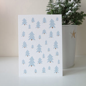 Snow forest Christmas card elemente design