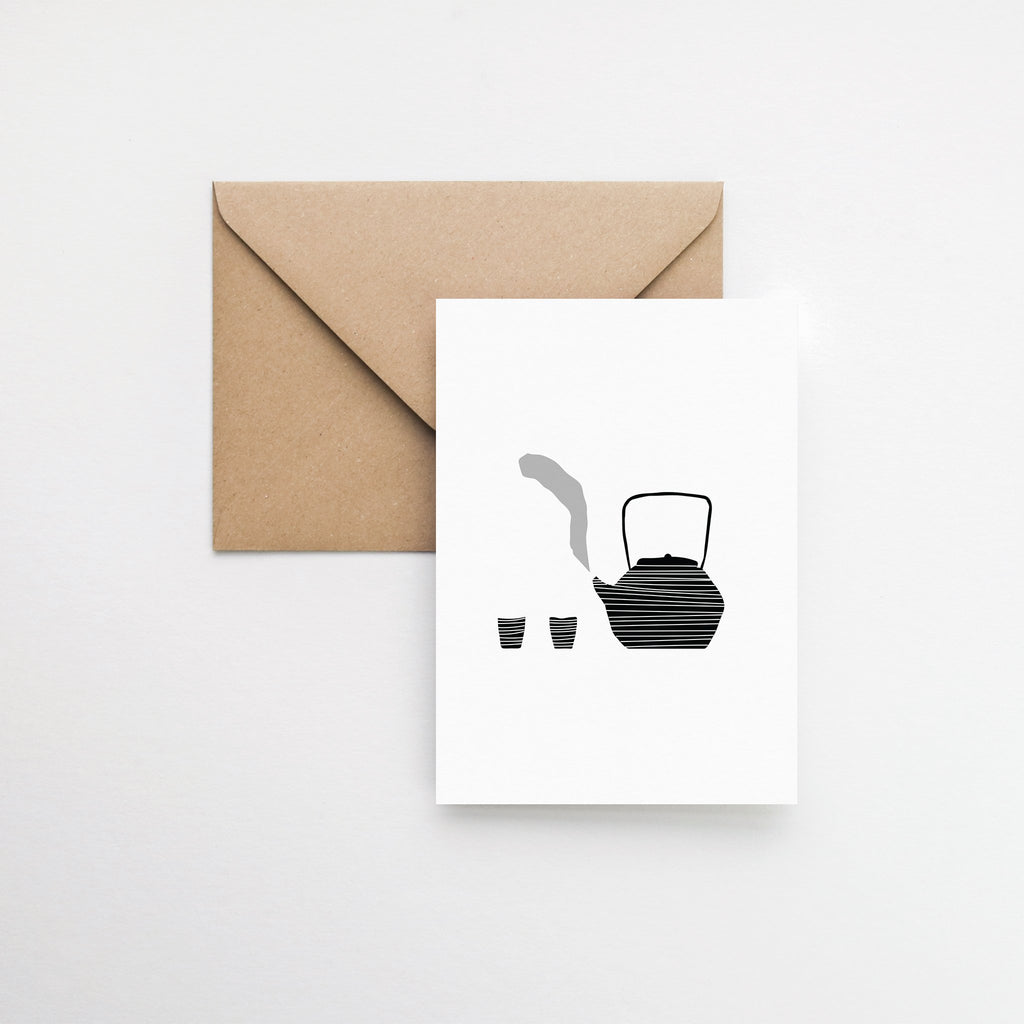 Japanese tea greeting card