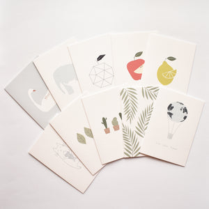 minimalist modern Everyday greeting card pack of 10 elemente design