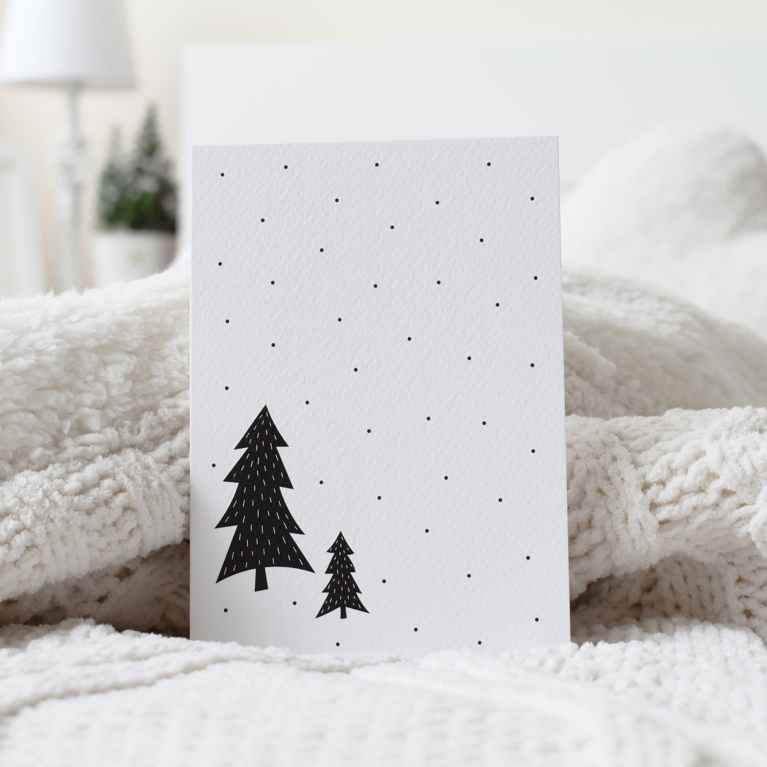 Modern black Scandinavian design Christmas card elemente design