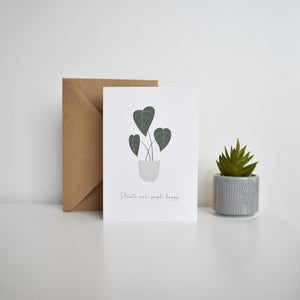 plants make people happy greeting card Elemente Design