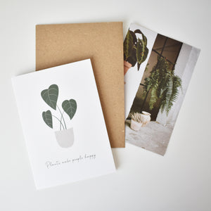potted plant greeting card Elemente Design