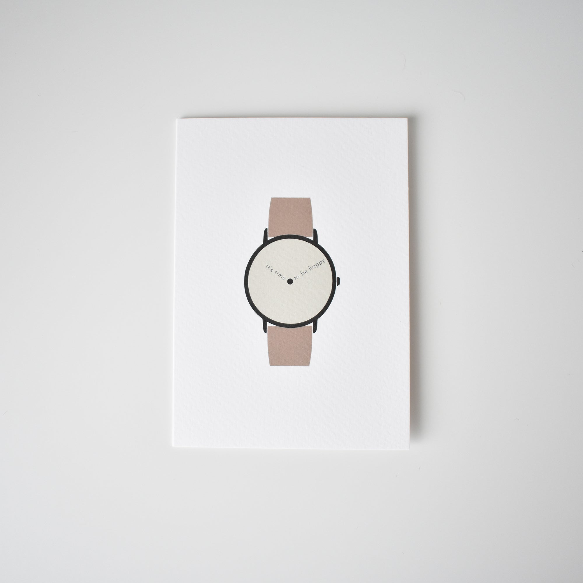 men wristwatch of happiness greeting card Elemente Design