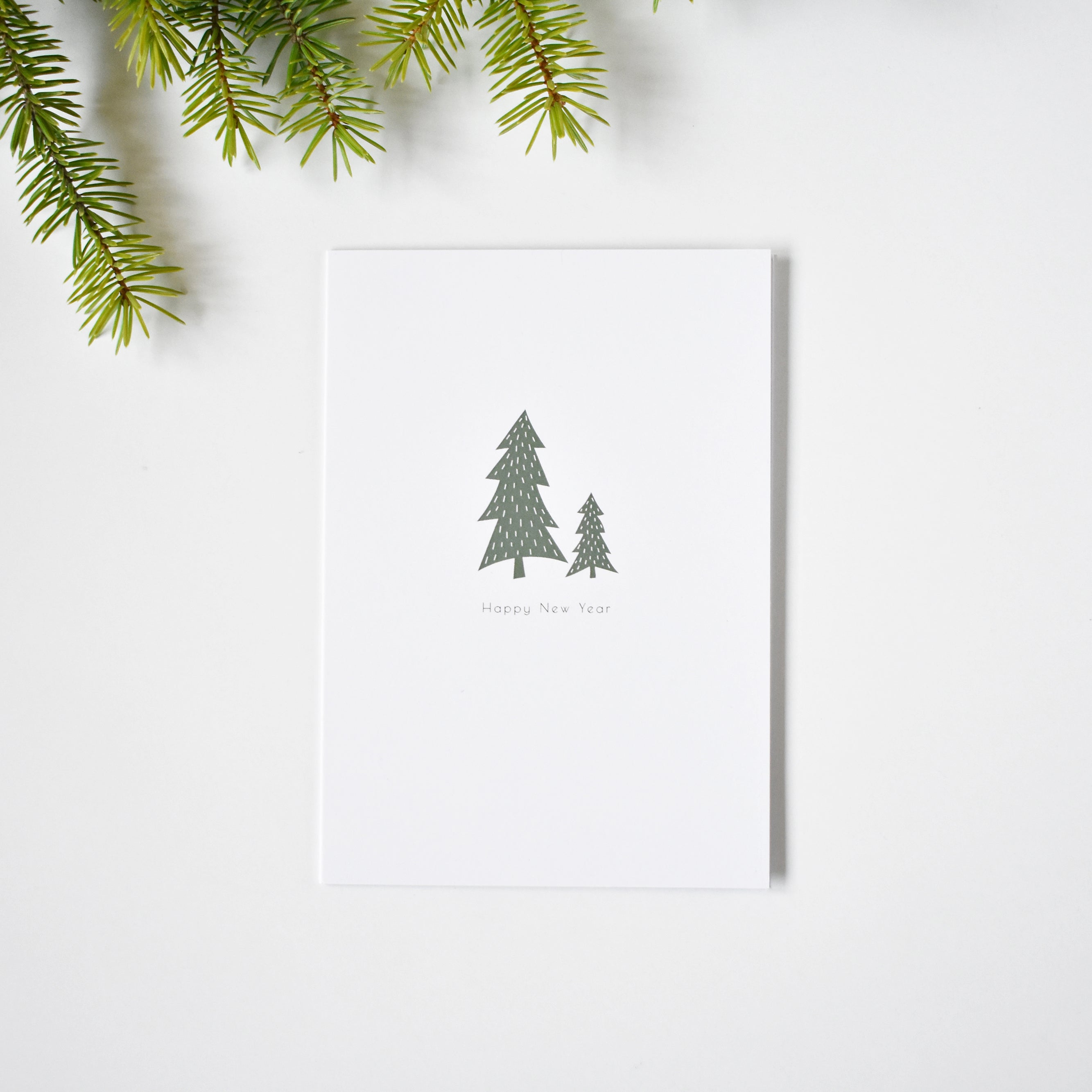 Minimalist Happy New year card