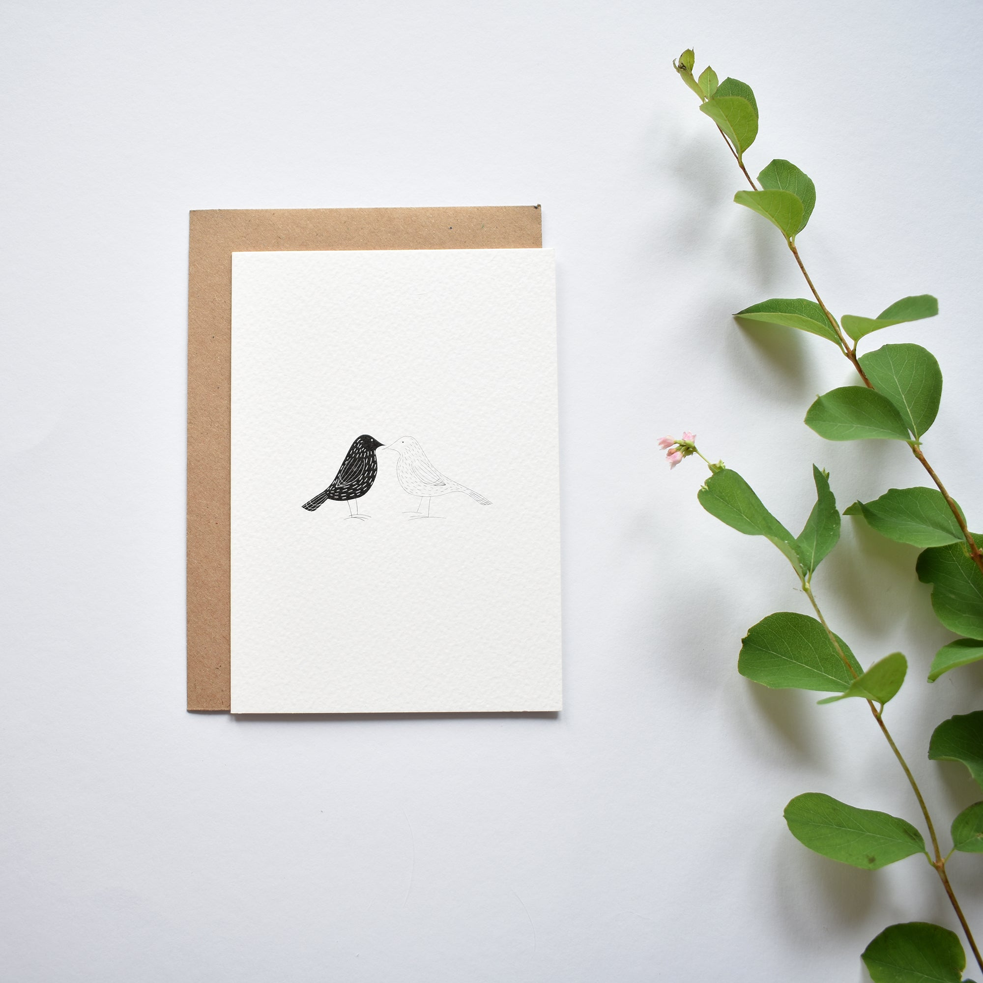 TWO BIRDS greeting card