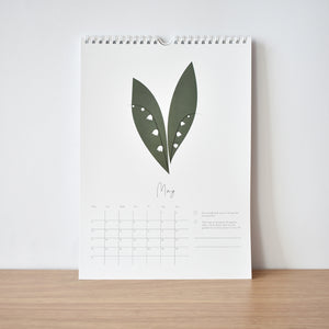 May Kindness & happiness calendar 2021 elemente design Lilly of the valley