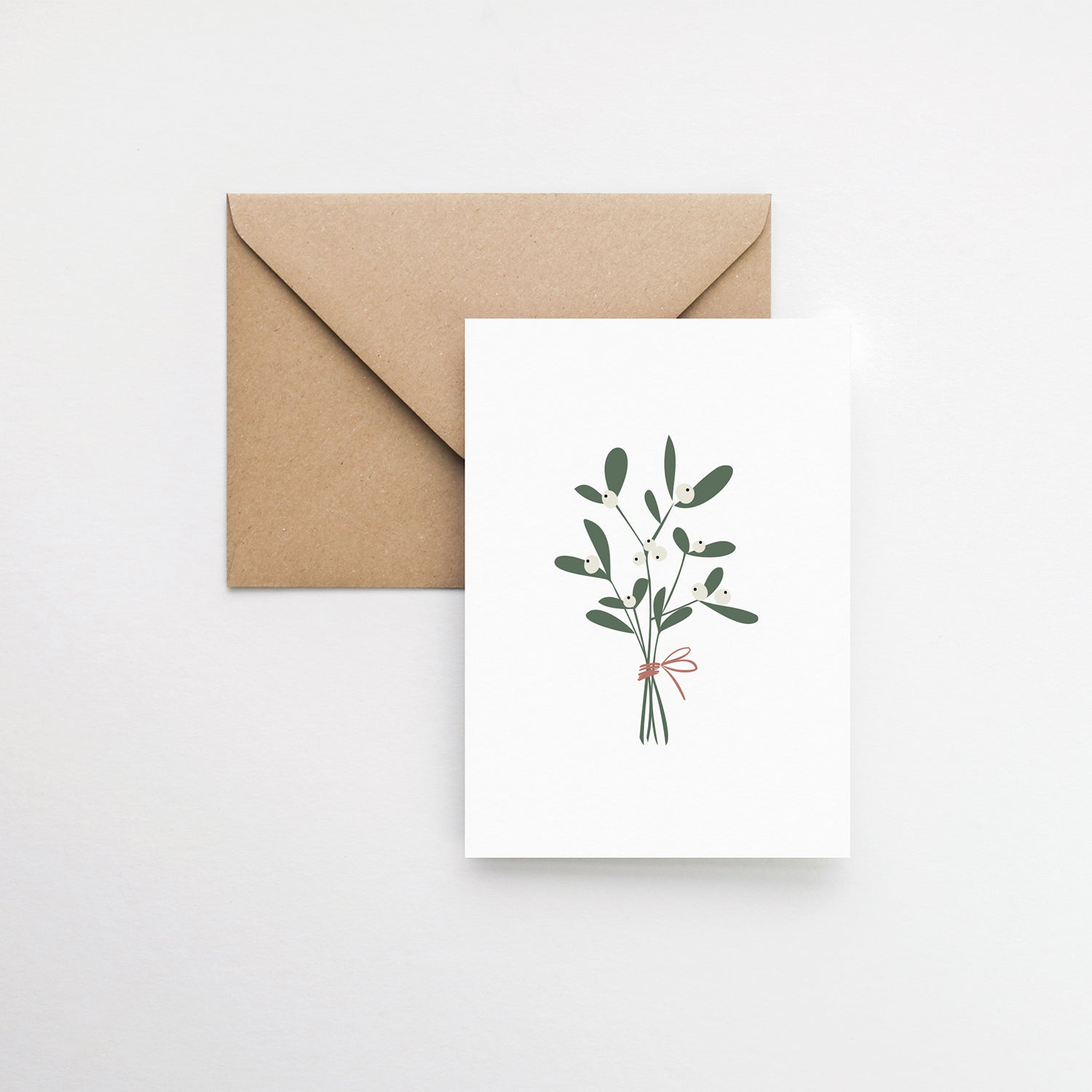 Mistletoe Christmas greeting card elemente design
