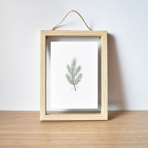 pine branch minimalist Christmas card elemente design Christmas framed art