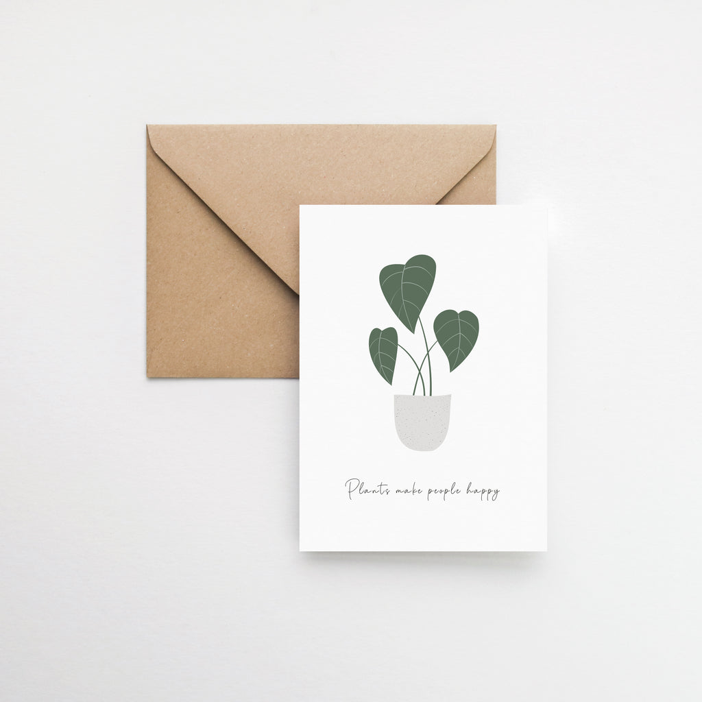 plant of happiness greeting card Elemente Design