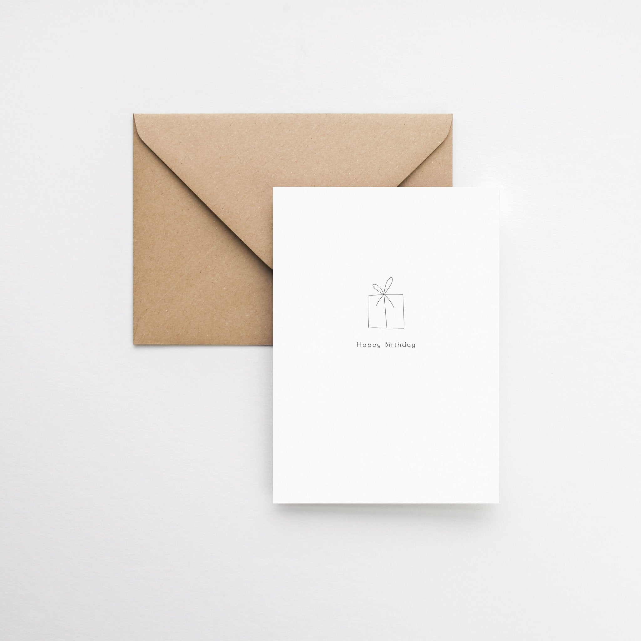 gift minimalist birthday card