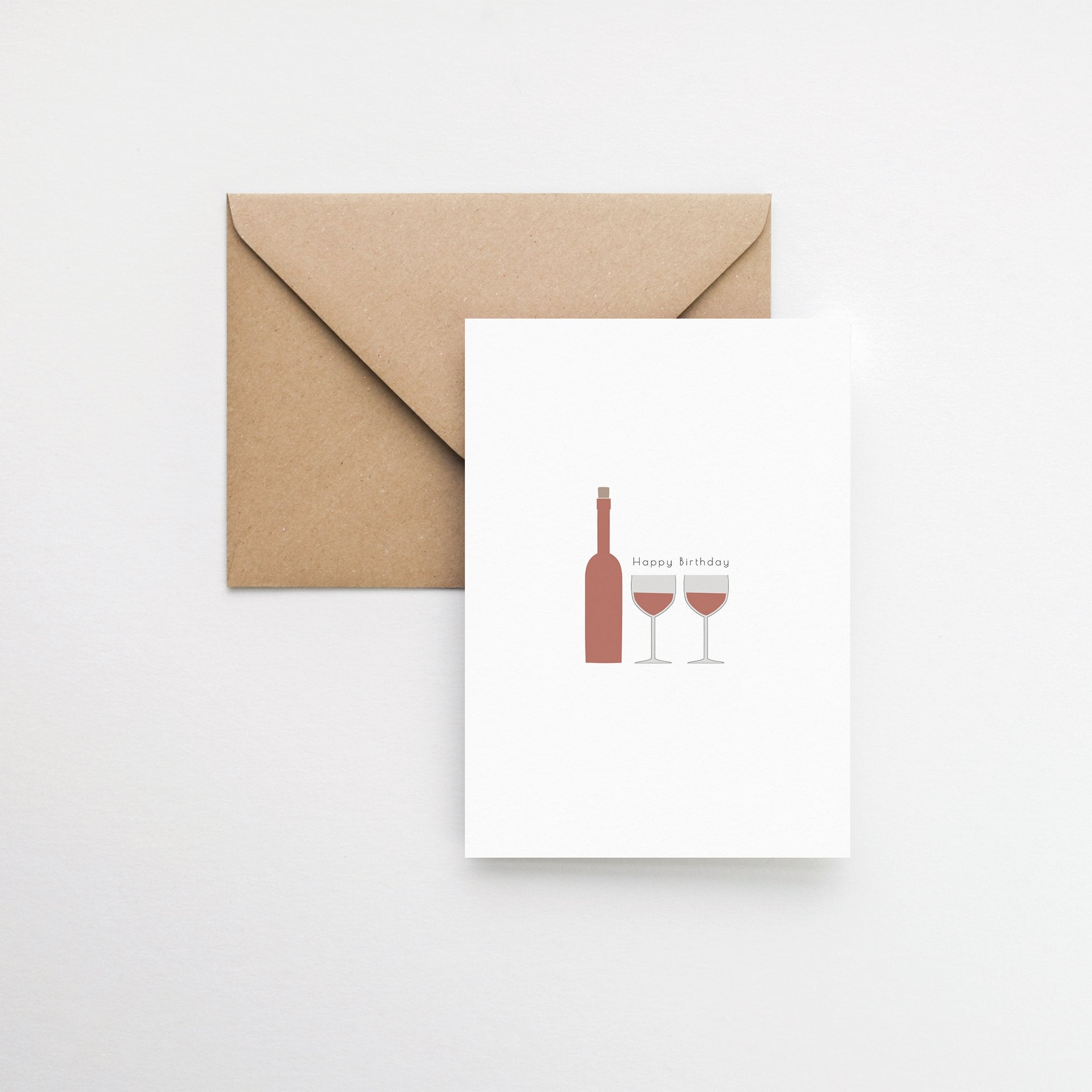 red wine birthday card elemente design
