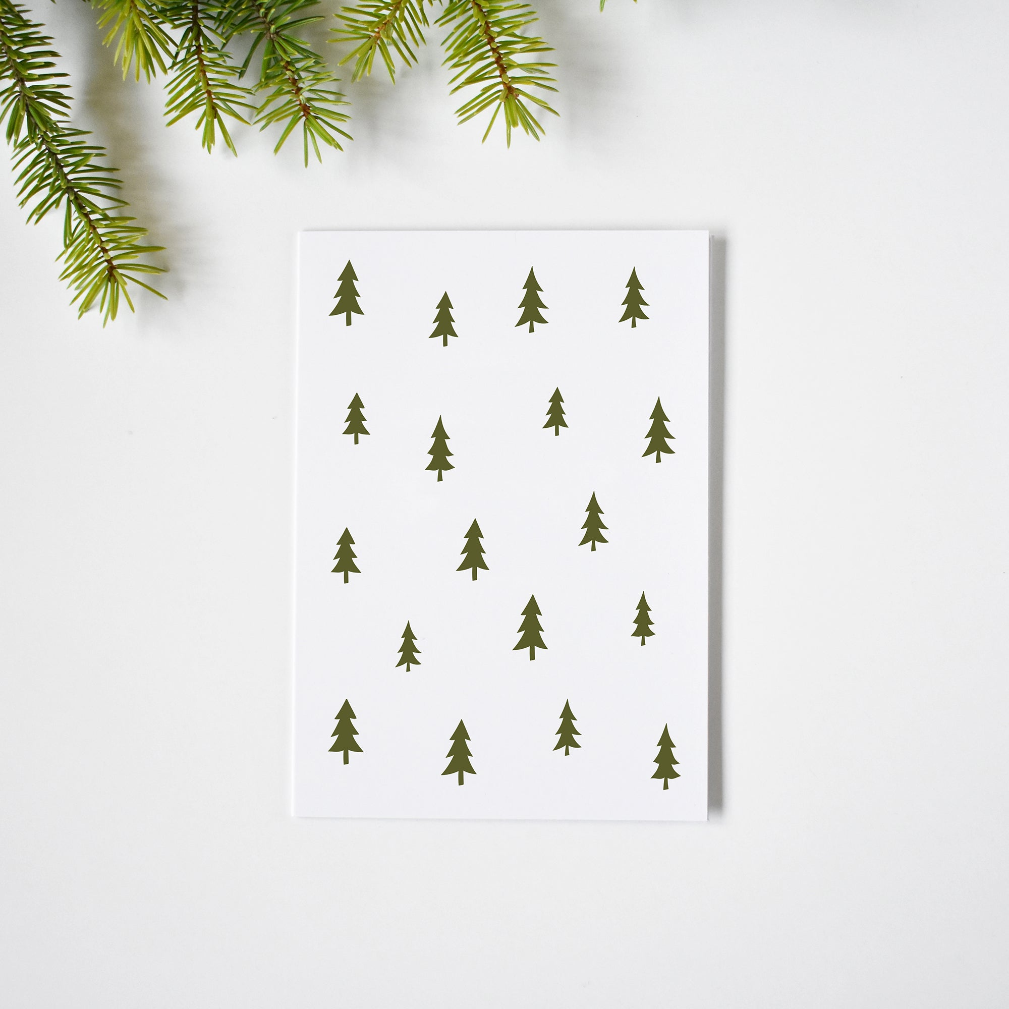 Classic Christmas trees pattern Christmas cards elemente design