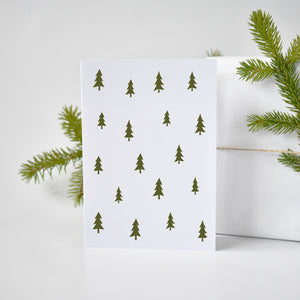 Classic Christmas trees pattern Xmas cards elemente design