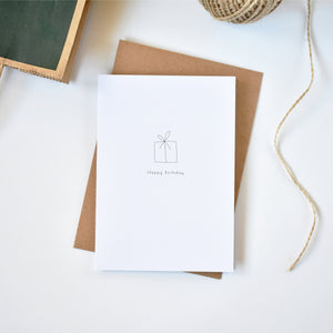 minimalist present birthday card