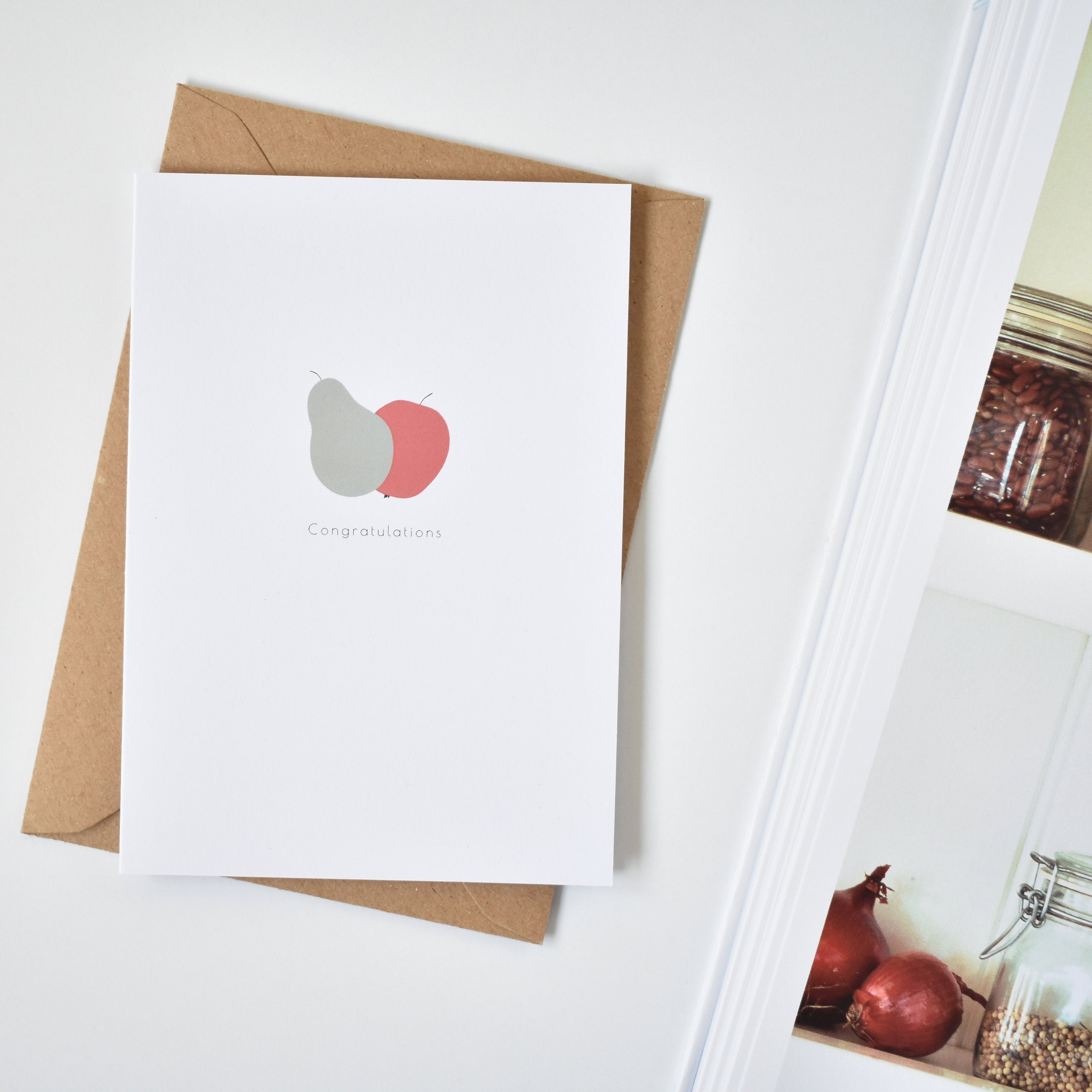 Fruity congratulations card apple&pear