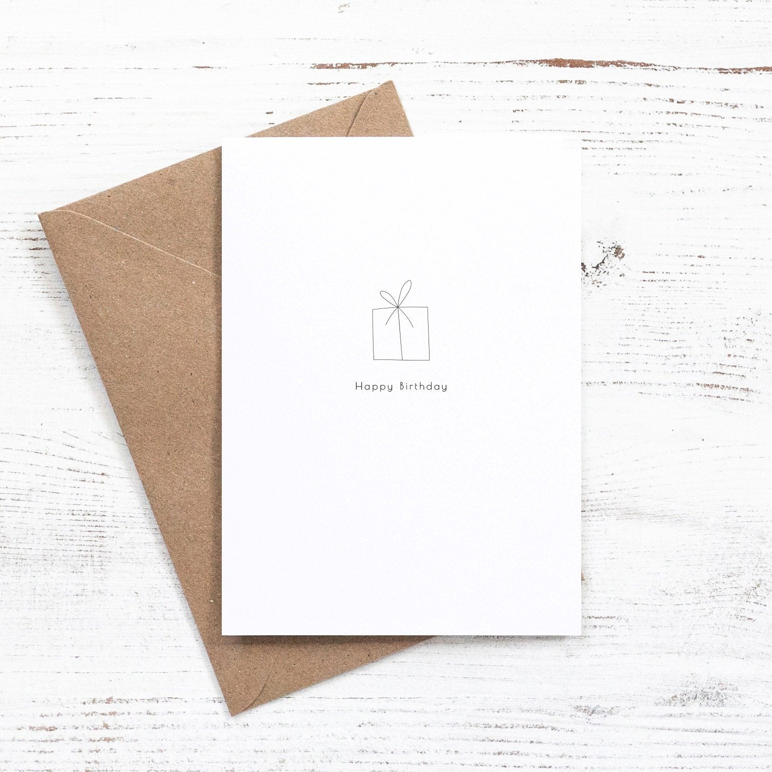 minimalist gift birthday card