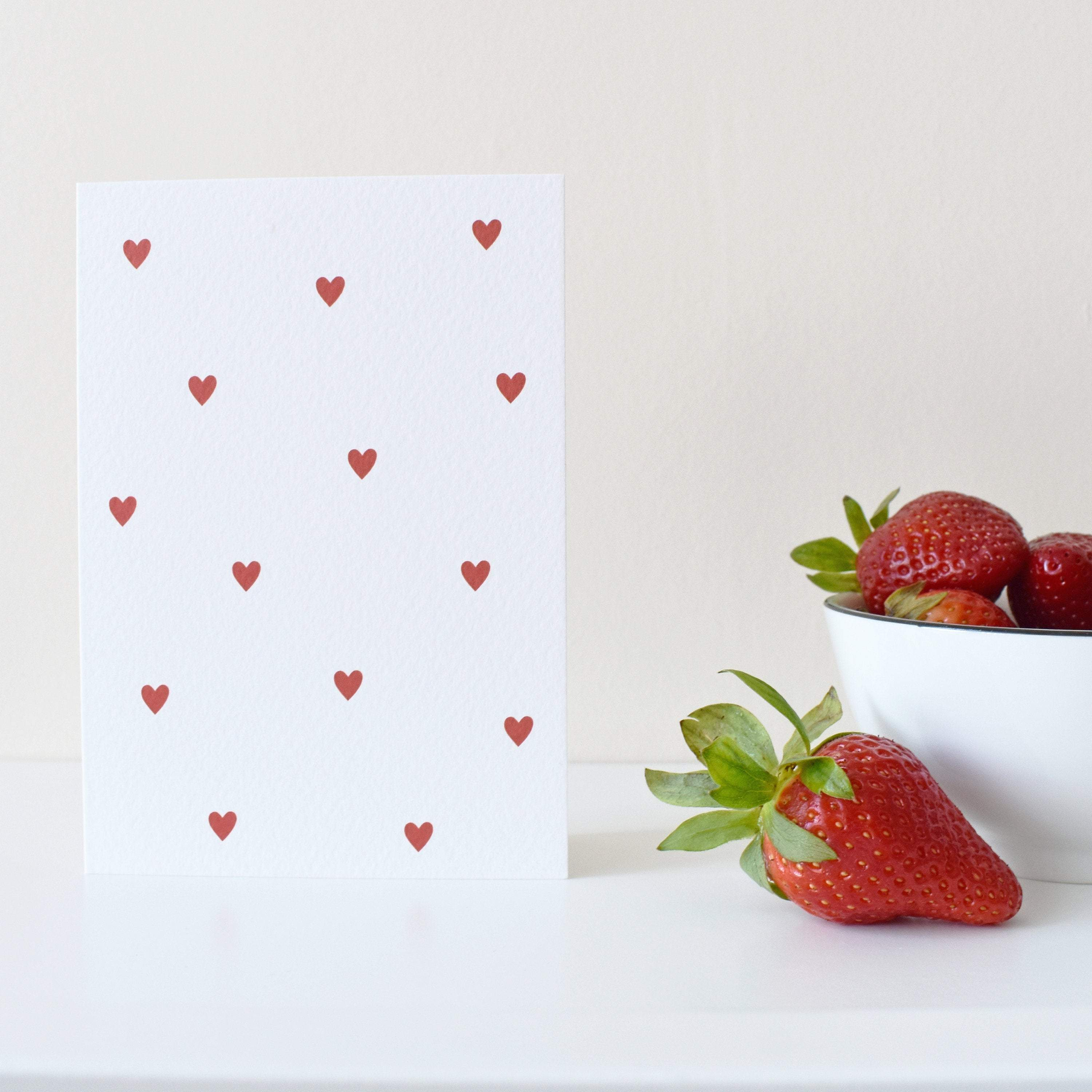 Heart pattern Valentines day card