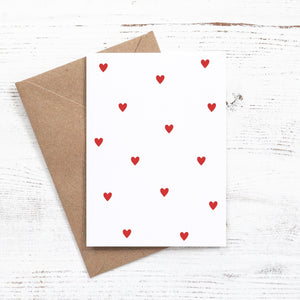 Heart pattern Valentines day greeting card