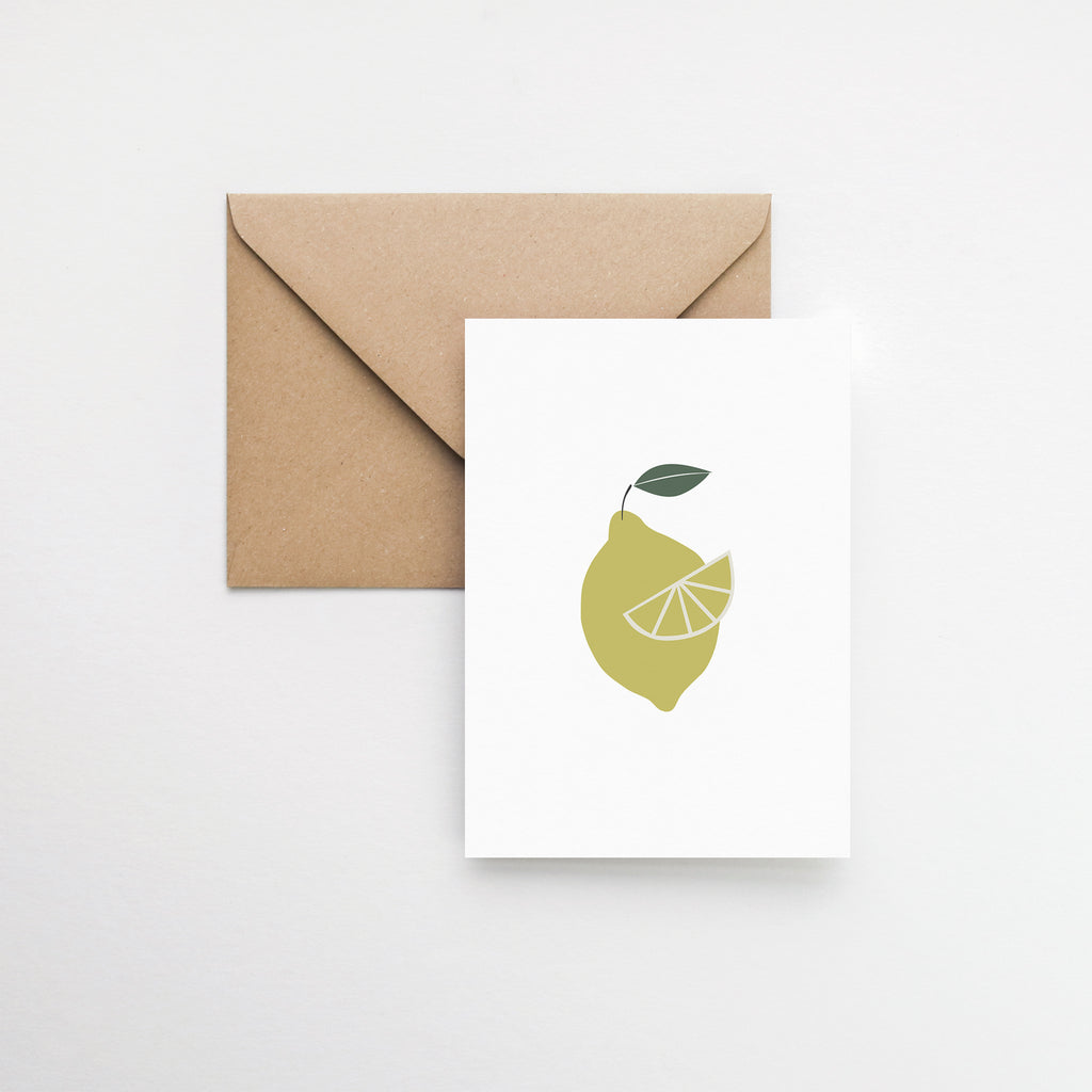 Wild lemon greeting card elemente design